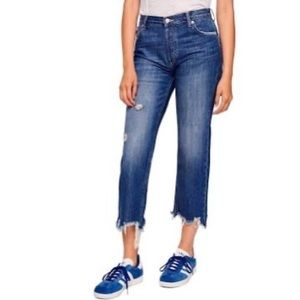 Free People Maggie mid rise straight leg jeans